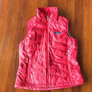 Patagonia Cherry Red Down Sweater Vest size s